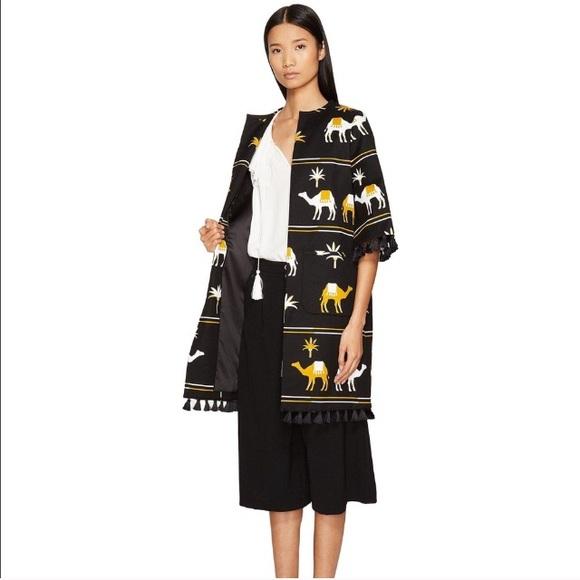 Kate Spade Embroidered Camel Coat